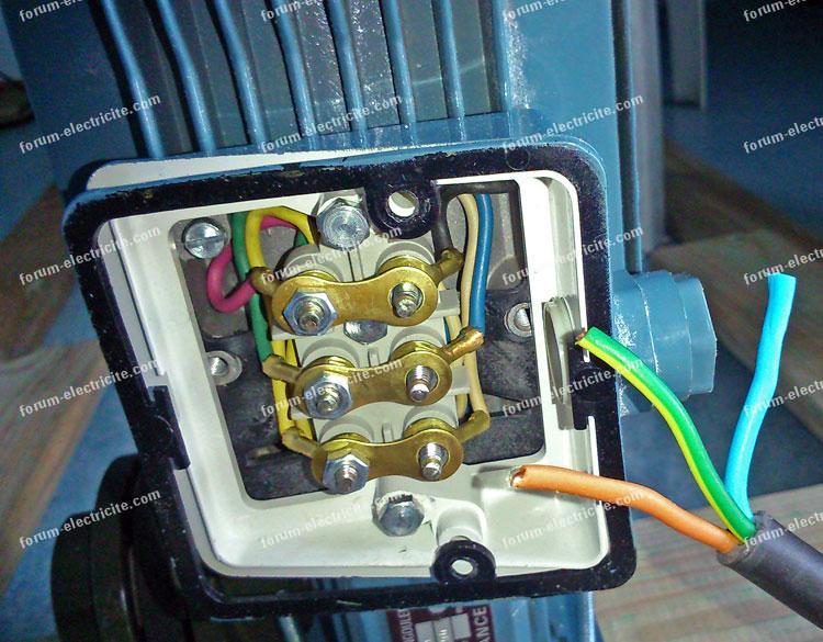 brancher moteur électrique