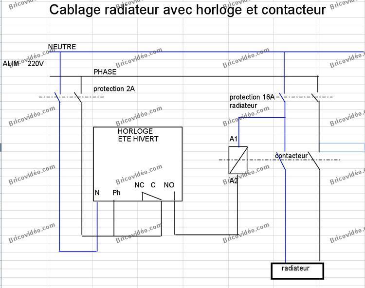 branchement radiateur electrique bv 010