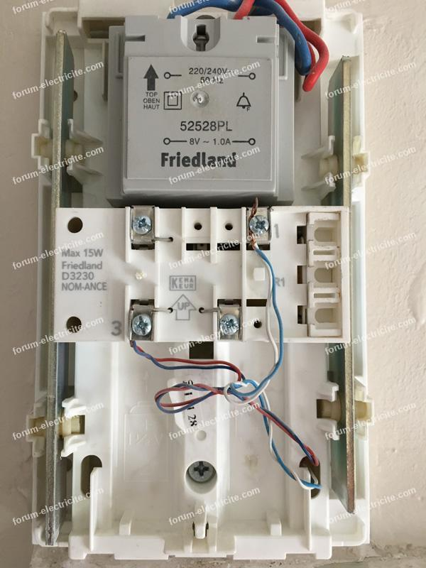 Friedland Nom Ance.Forum Electricite Bricovideo Branchement Carillon