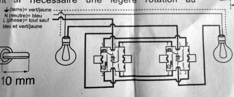 Double interrupteur va et vient legrand schema images - Interrupteur double va et vient ...