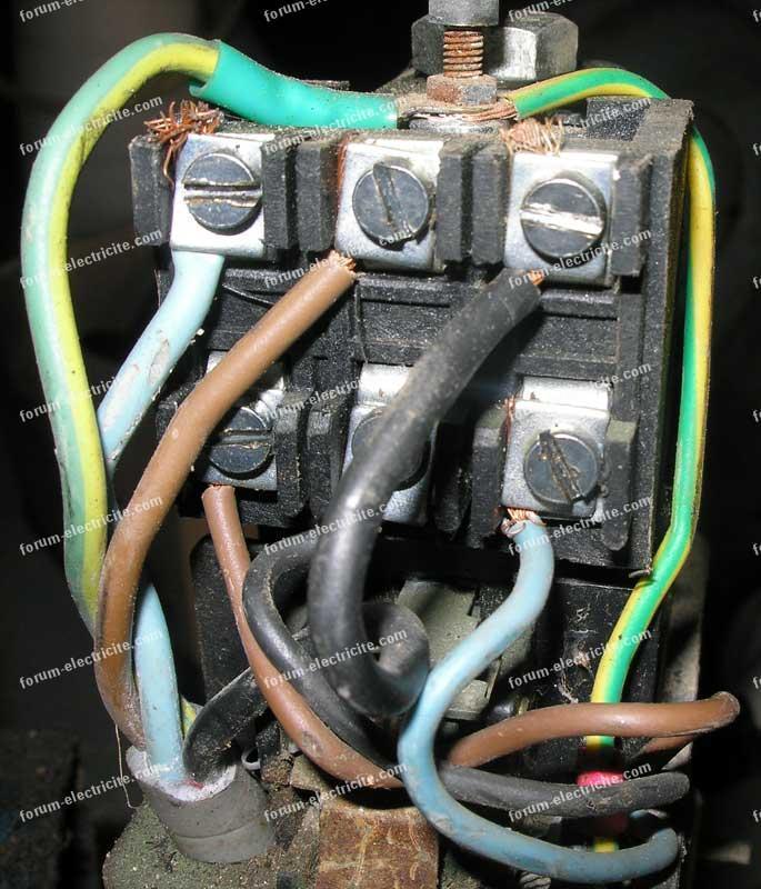 branchement compresseur 220V en 220V mono