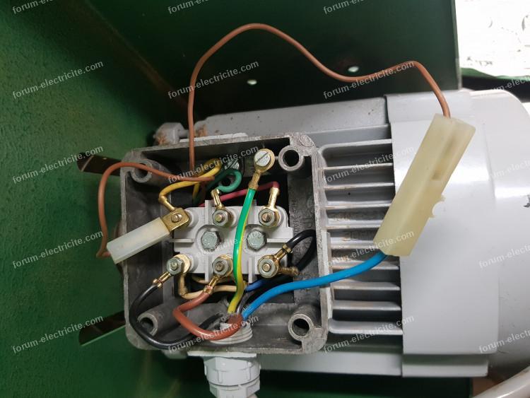 brancher moteur de tour à bois Kity triphasé en monophasé