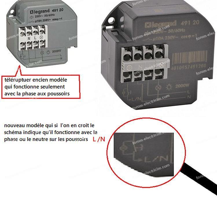 brancher télérupteur Legrand 49120