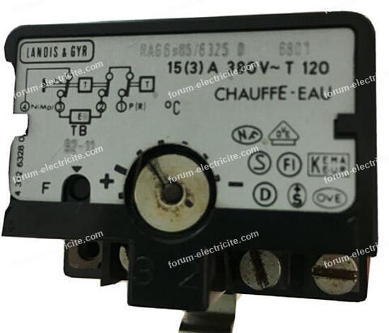 brancher thermostat Landis et Gyr