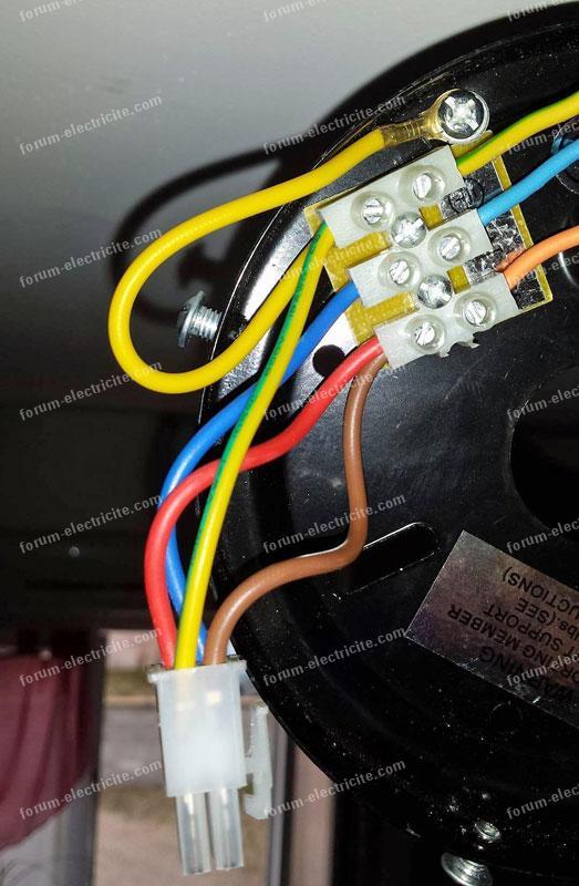forum lectricit probl me branchement ventilateur plafond. Black Bedroom Furniture Sets. Home Design Ideas