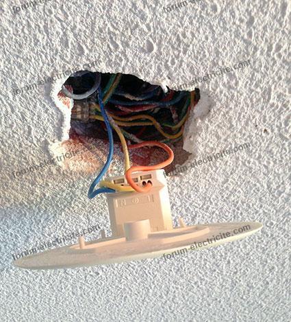 branchement  va et vient ventilateur plafond