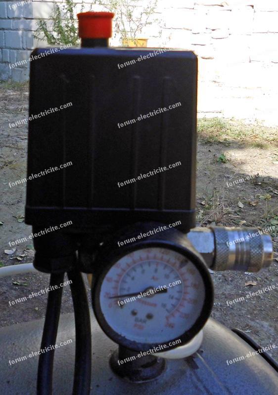 câblage condensateur compresseur