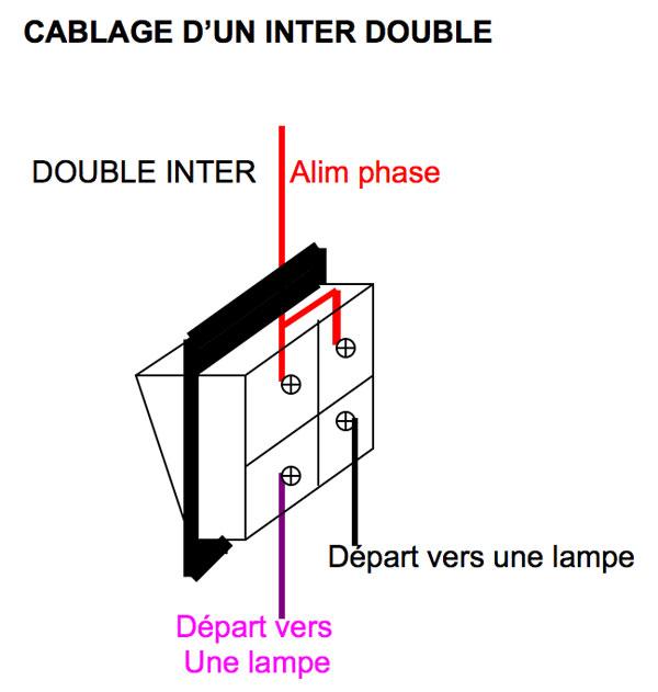 Pb r paration brancher 2 lampes pas en s rie 1 double interrupteur - Comment brancher un interrupteur double ...