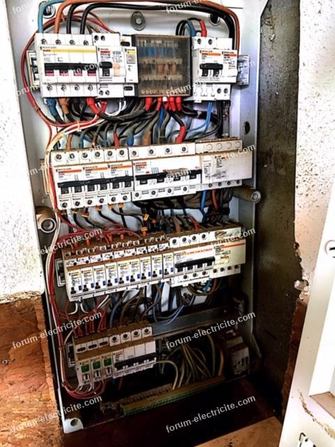 câblage actuel du tableau électrique