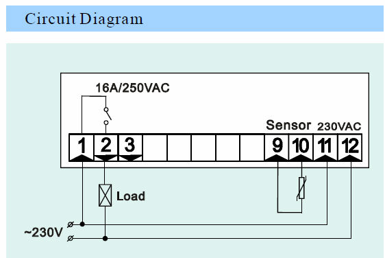 câblage thermostat digital