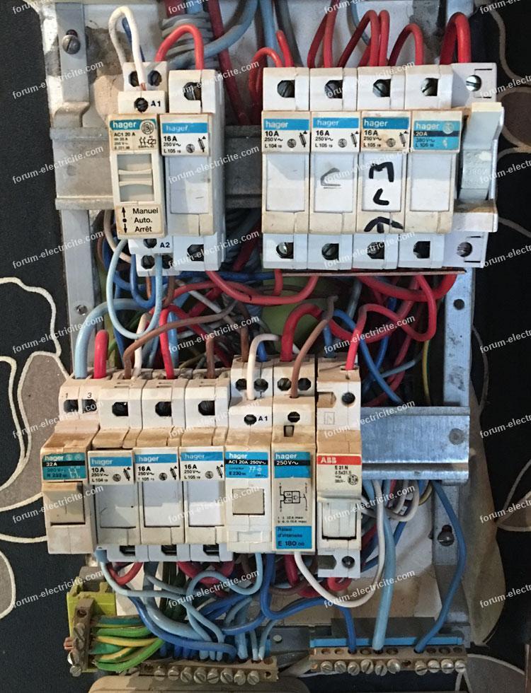 Recherche câbles du contacteur jour nuit