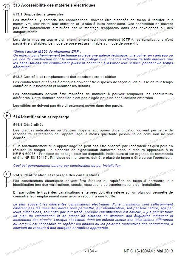 Norme Câbles Rénovation électricité