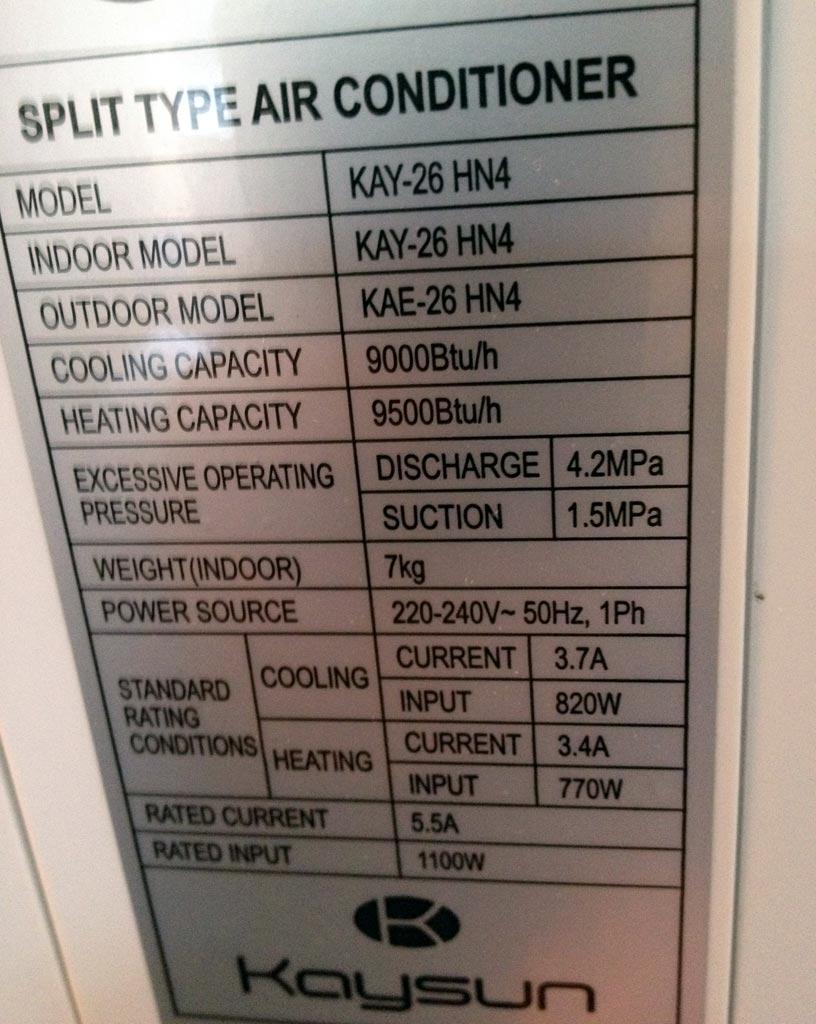 climatiseur kaysun kay 26 hn4