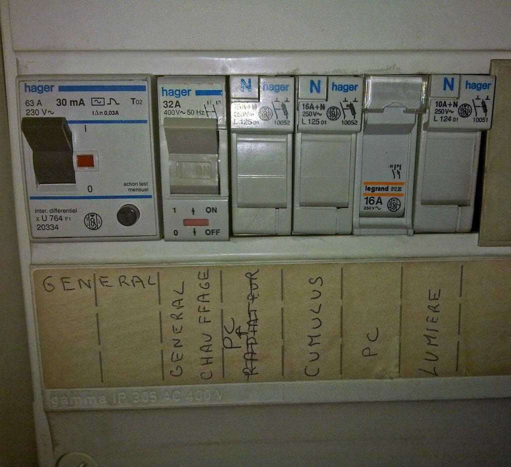 Prise chauffage en prise électrique