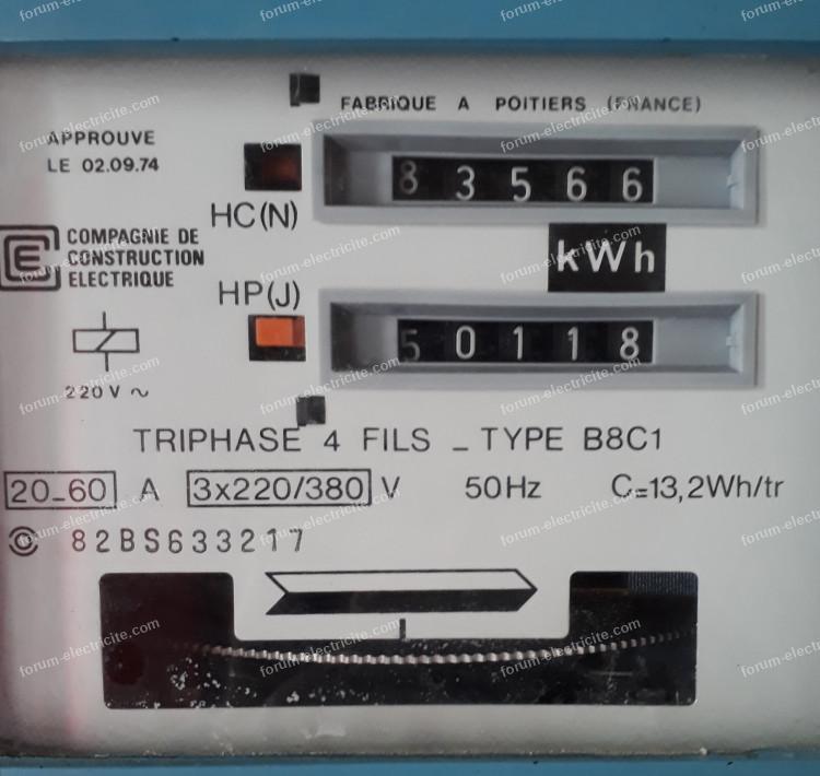 compteur électrique bleu