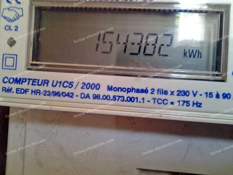 Compteur edf sagem finest best sous compteur electrique for Relever le compteur edf