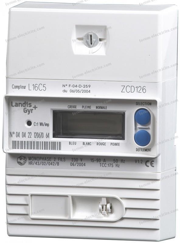 compteur électronique monophasé