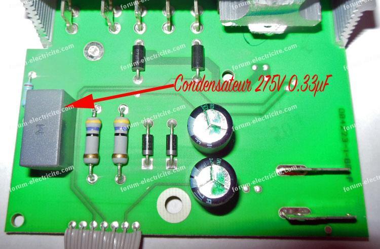 condensateur 275V 0.33µF