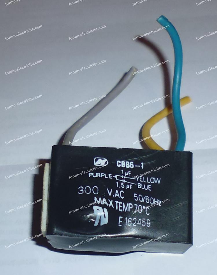 condensateur ventilateur