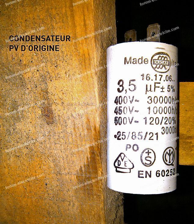 condensateur vmc d origine