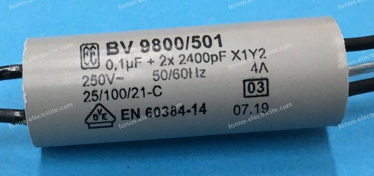 condensateurs filtre anti-parasite machine à coudre