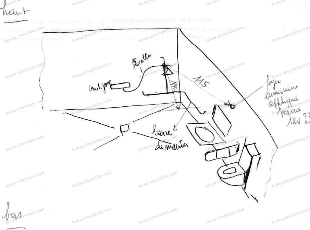 forum lectricit installation lumi re pmr dans une salle de bain. Black Bedroom Furniture Sets. Home Design Ideas