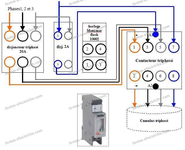Questions Réponses électricité Branchement Horloge Et Contacteur