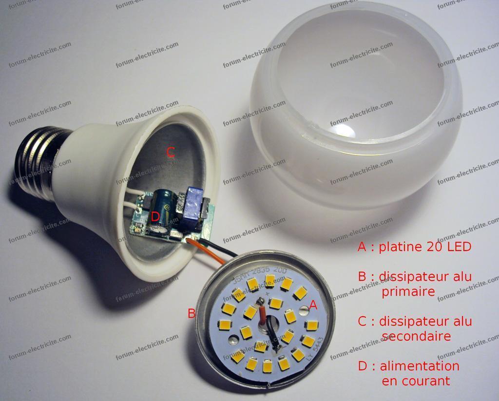 dépannage ampoule LED