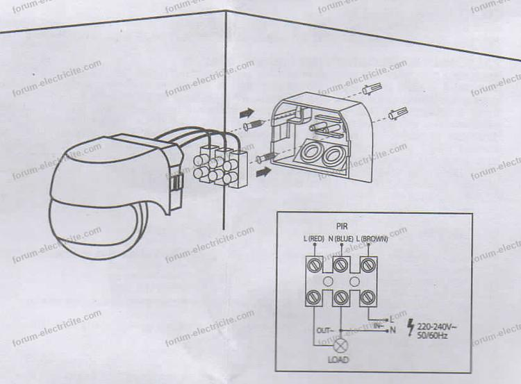 schéma détecteur de mouvement
