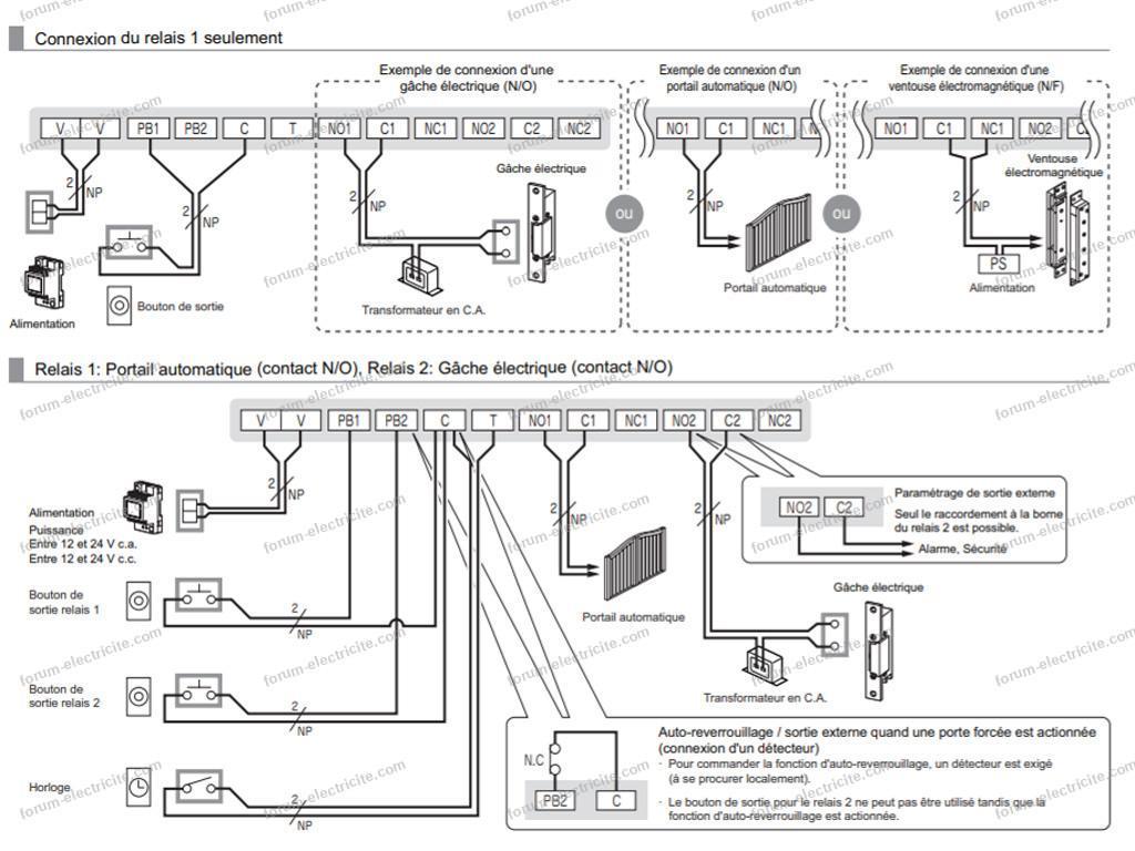 digicode Aiphone schéma câblage