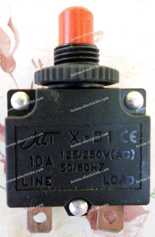 disjoncteur de 10 Ampères