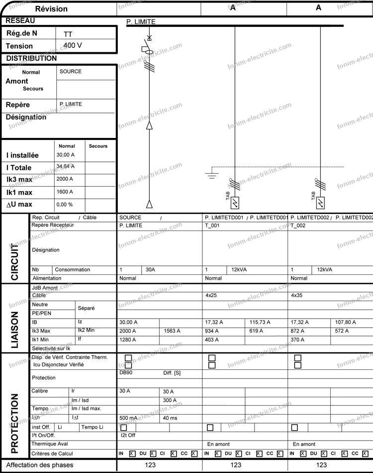 disjoncteur de branchement 10 30A