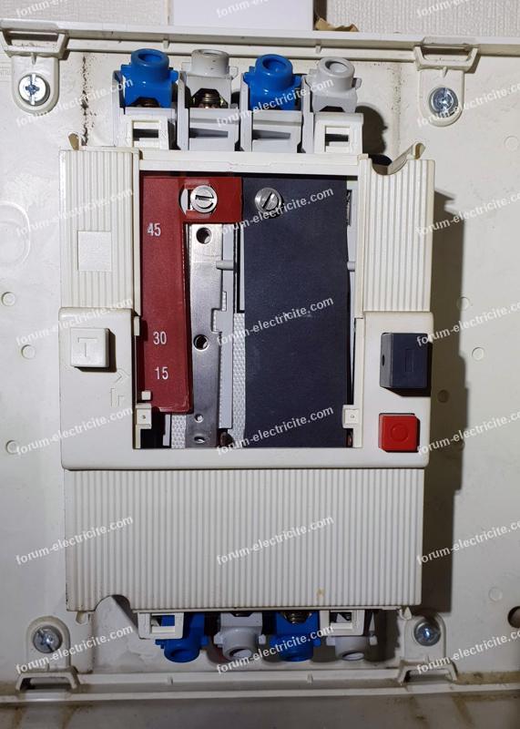 disjoncteur différentiel général 15A