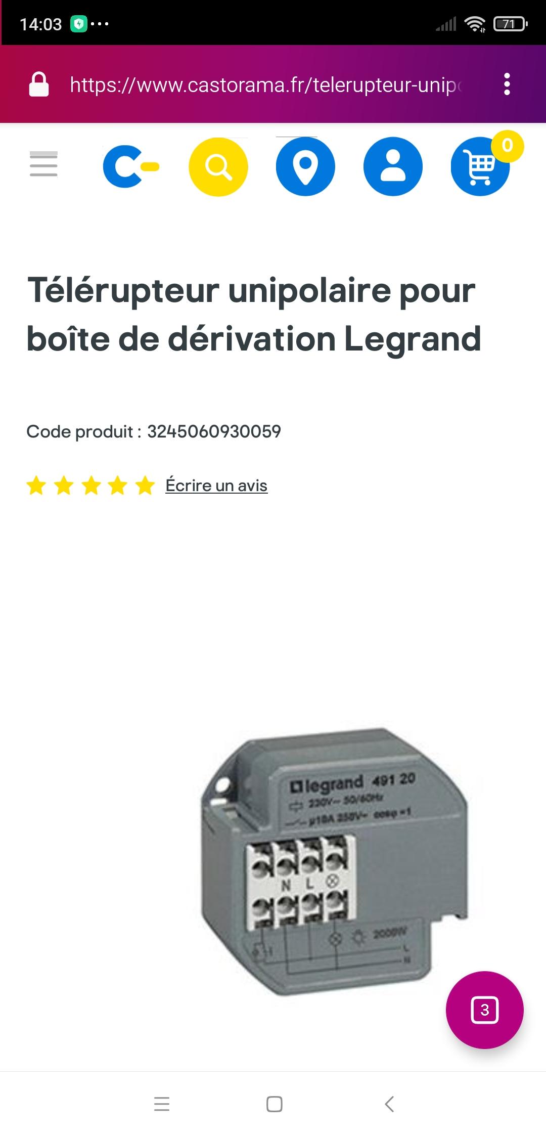 doublon 726840 telerupteur 49120