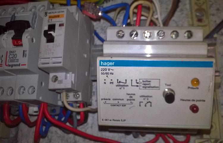 installation électrique EJP Hager