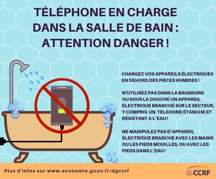électrocution télphoneportable