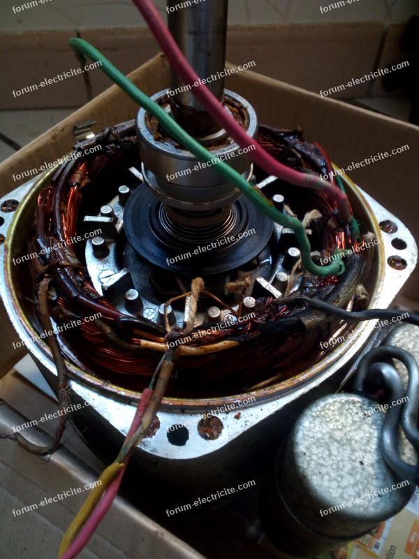 étincelles moteur compresseur