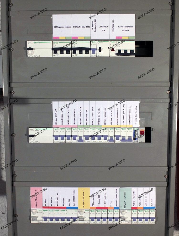 étiquetage tableau électrique