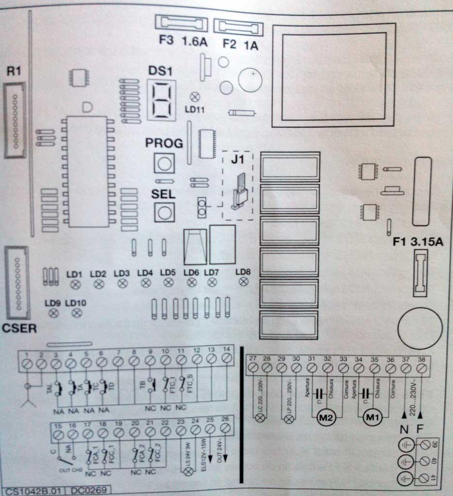 Comment d sactiver la s curit d 39 un portail lectrique sch ma lectriqu - Boitier commande portail electrique ...