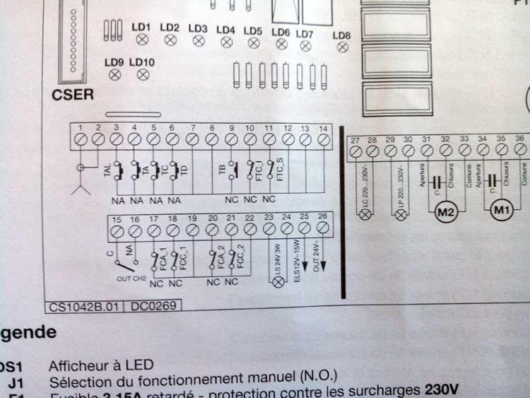 Comment d sactiver la s curit d 39 un portail lectrique sch ma lectriqu - Fonctionnement d un portail electrique ...