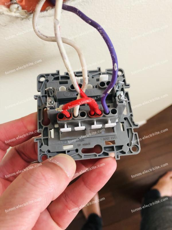 brancher double interrupteur avec va et vient