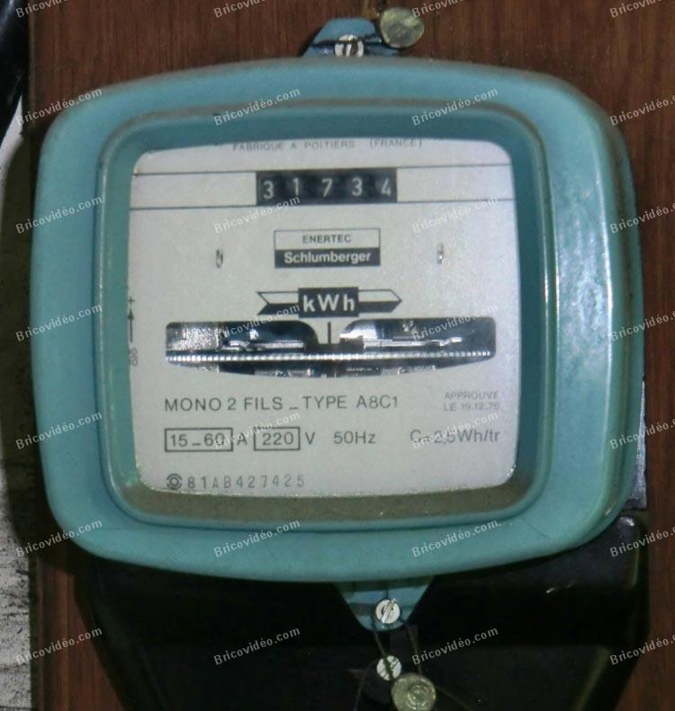 Lectricit r novation appartement changement tr s vieux disjoncteur et tab - Changement compteur edf ...