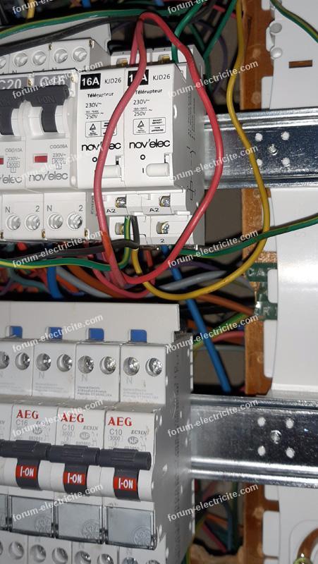 forum électricité remplacer télérupteur