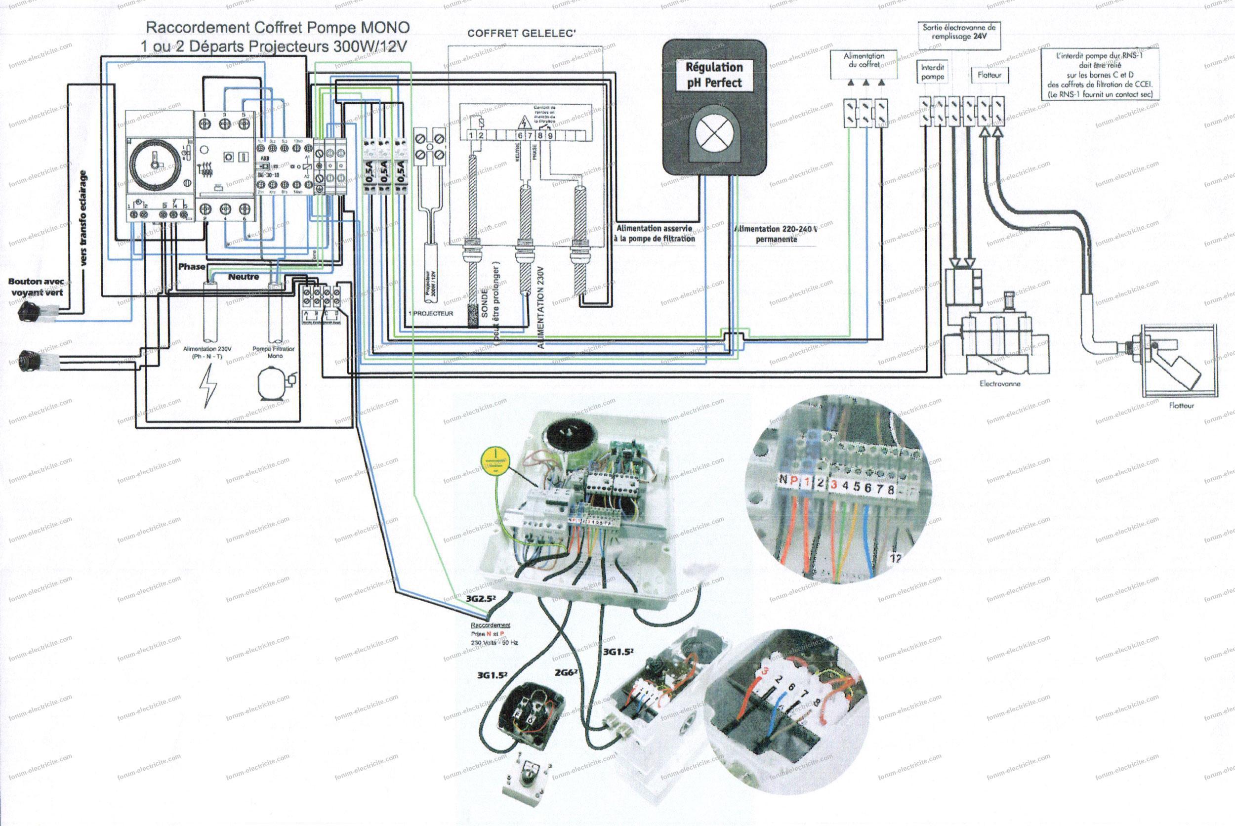 forum électricité schéma électrique piscine
