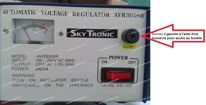 fusible régulateur de tension