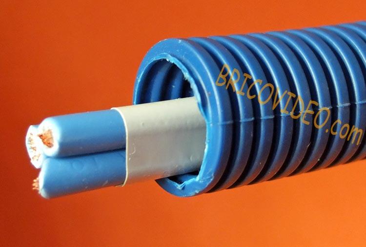 Gaine ICTA et fils électriques