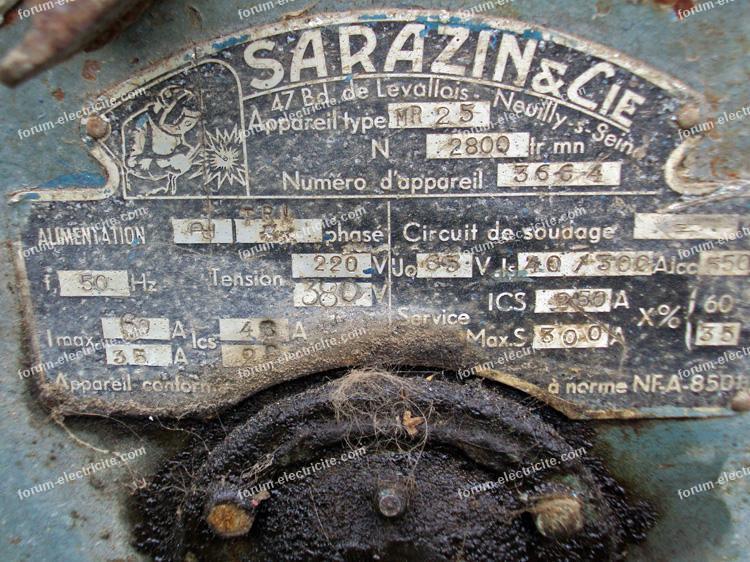 génératrice pour souder Sarazin
