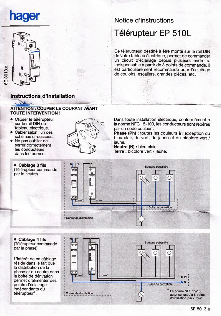 schema branchement telerupteur hager ep 510. Black Bedroom Furniture Sets. Home Design Ideas