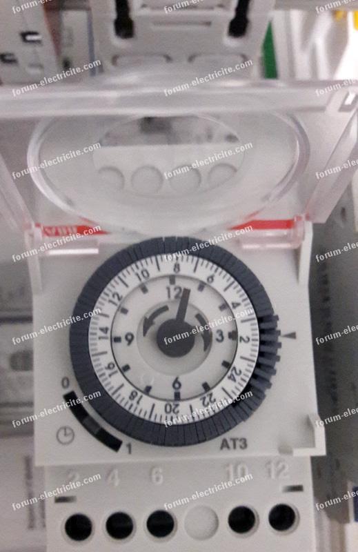 horloge coffret de piscine