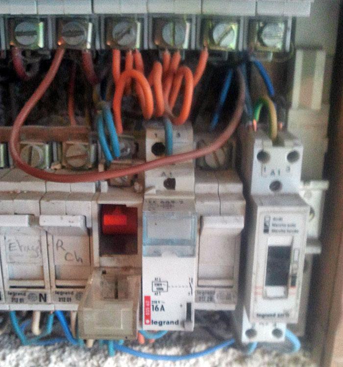 Information éléments tableau électrique
